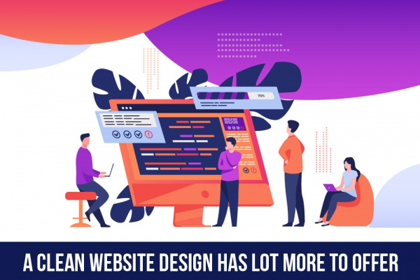 A clean website design has lot more to offer
